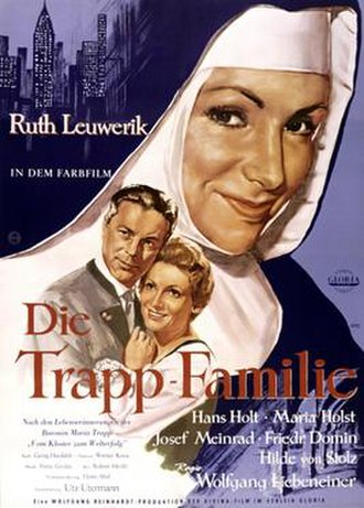 The Trapp Family - German theatrical release poster