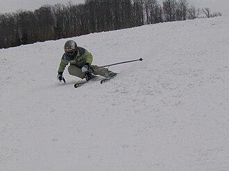 Bükk - Image: Downhill skiing at Bánkút, Hungary (19 March 2006)