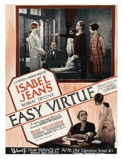 <i>Easy Virtue</i> (1928 film) 1928 film by Alfred Hitchcock
