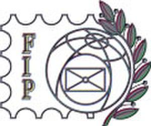 Fédération Internationale de Philatélie - The FIP logo.