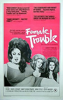 <i>Female Trouble</i> 1974 film directed by John Waters