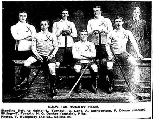 Goodall Cup - The first ice hockey team representing New South Wales 1909