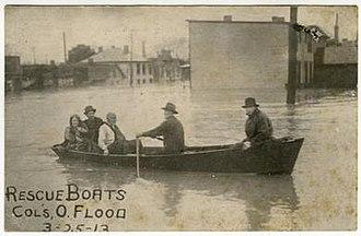 Franklinton, Columbus, Ohio - Rescue Boats