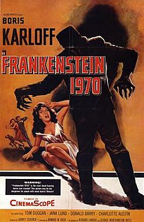 <i>Frankenstein 1970</i> 1958 science fiction horror film directed by Howard W. Koch