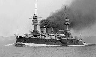 French battleship <i>Jauréguiberry</i> Pre-dreadnought battleship constructed for the French Navy