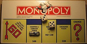 Rich Uncle Pennybags - A more contemporary depiction of Pennybags on the box of Monopoly