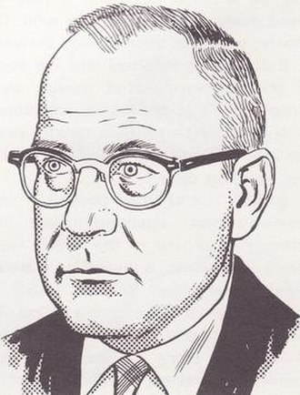 Gardner Fox - Portrait of Gardner Fox by Gil Kane