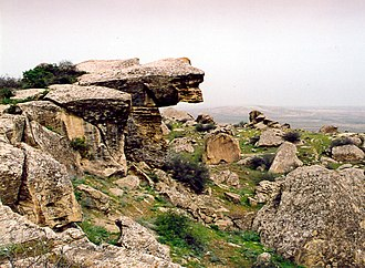 Environment of Azerbaijan - Lion's View in Gobustan.