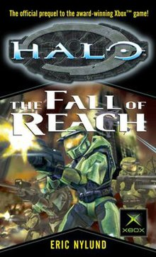 Halo the fall of reach wikipedia cover shows a fantasy figure shooting a weapon sciox Images