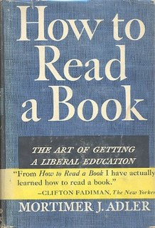 <i>How to Read a Book</i> 1940 book by Mortimer J. Adler