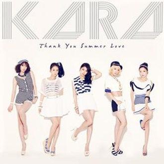 Thank You Summer Love - Image: KARA Thank You Summer Love cover