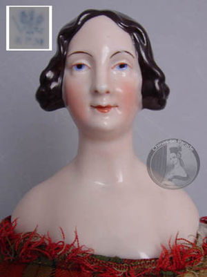 China doll - Rare c.1840s KPM china doll