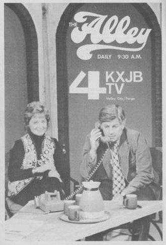 KRDK-TV - KXJB-TV broadcasting from the West Acres Shopping Center with Sally Hilleboe and Jim Adelson.