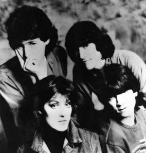 Katrina and the Waves - Clockwise from top left: Alex Cooper, Vince de la Cruz, Kimberley Rew, and Katrina Leskanich; 1985.