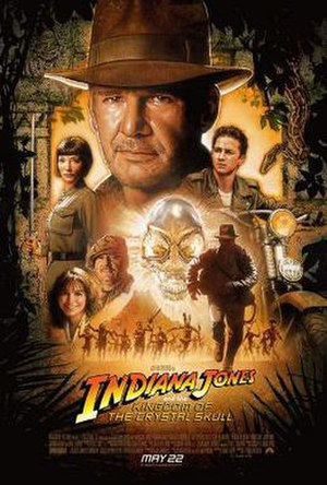 Indiana Jones and the Kingdom of the Crystal Skull - Theatrical release poster designed by Drew Struzan