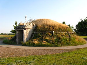 Knife River Indian Villages National Historic Site Knife River Earthlodge.JPG