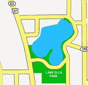 Lake Ella - Lake Ella, Tallahassee, Florida.