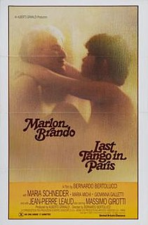 <i>Last Tango in Paris</i> 1972 film directed by Bernardo Bertolucci