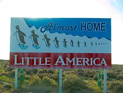 Billboard near Little America, Wyoming, 2002
