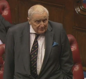 John Gilbert, Baron Gilbert - In the House  of Lords three weeks before his death.