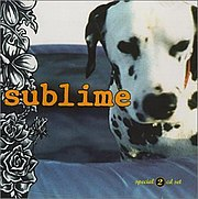 Lou Dog on the cover of a Sublime box set compilation.
