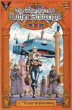 The Adventures of Luther Arkwright - The cover of issue 2 of the Valkyrie Press edition of The Adventures of Luther Arkwright