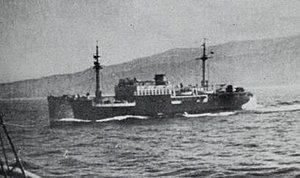 SS Cantabria (1919) - Spanish Nationalist auxiliary cruiser Nadir painted with camouflage patterns
