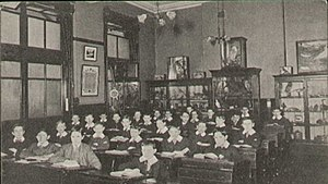 Manchester Grammar School - Classroom at the old site