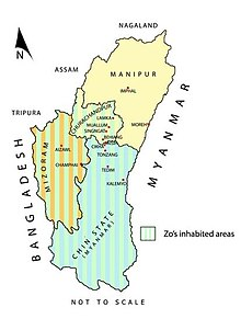 Zomi Inhabited Area in Post-Colonial