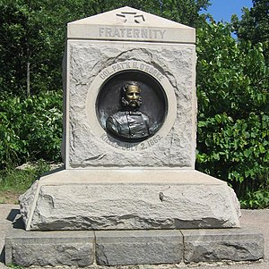 Patrick O'Rorke - Monument to 140th New York and O'Rorke at the Gettysburg Battlefield.