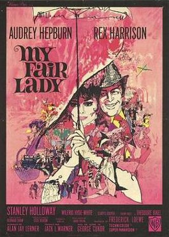 My Fair Lady (film) - Theatrical release poster by Bill Gold; original illustration by Bob Peak