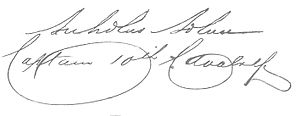 A handwritten signature