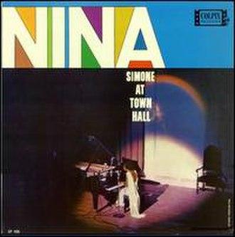 Nina Simone at Town Hall - Image: Nina Simone At Town Hall