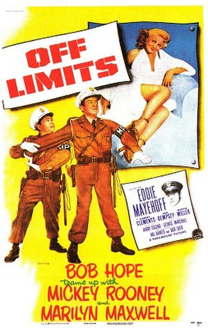 Off Limits (1953 film) - 1953 Theatrical Poster