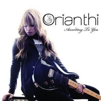 According to You - Image: Orianthi AT Osingle