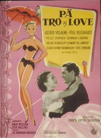 På tro og love - Theatrical poster by Aage Lundvald
