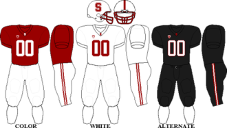 2010 Stanford Cardinal football team - Image: Pac 10 Uniform SU 2010
