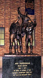 Ara Parseghian Statue, dedicated September 22, 2007