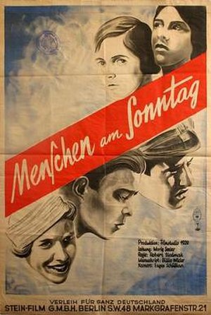People on Sunday - German film poster
