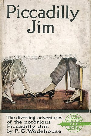 Herbert George Jenkins - Dust jacket of Piccadilly Jim, Wodehouse's first novel to be published by Herbert Jenkins
