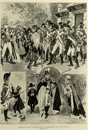 The Emerald Isle - Newspaper illustration showing scenes from the original production