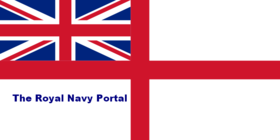 "White Ensign defaced by ""The Royal Navy Portal"""