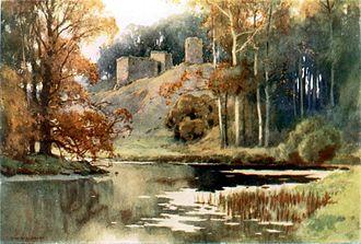 Roxburgh Castle - Roxburgh Castle, 1920, by E. W. Haslehust