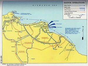 Landing at Saidor - Saidor Operation, January 1944.
