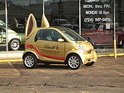 Smart Car custom LCB (Lindt chocolate Bunny) edition.