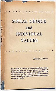 <i>Social Choice and Individual Values</i>