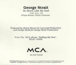 So Much Like My Dad - Image: Strait So Much Like My Dad single