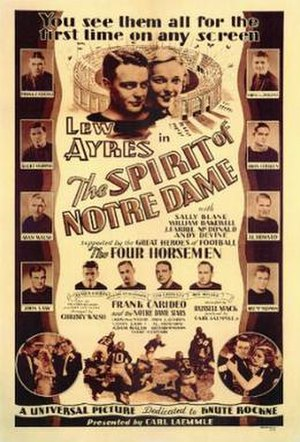 The Spirit of Notre Dame - Theatrical release poster