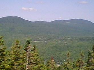Randolph, New Hampshire - The Town of Randolph as seen looking north from Dome Rock showing part of the Crescent Range behind.