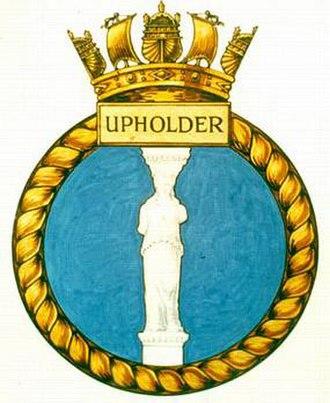 HMS Upholder (P37) - Image: UPHOLDER badge 1 1